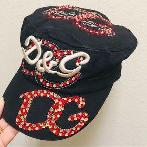 D&G Dolce & Gabbana Rhinestone Cap - Cadet Hat